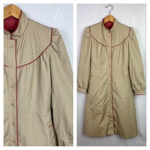 Vintage 80's J.Gallery Long Beige Peacoat